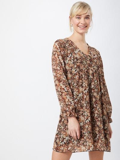Hailys Robe-chemise 'Silvia' en beige / marron / olive / blanc, Vue avec modèle