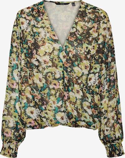 VERO MODA Bluse in braun / hellgrün / mischfarben, Produktansicht