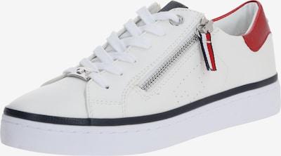 TOM TAILOR Sneaker in rot / schwarz / weiß, Produktansicht