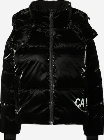 juoda Calvin Klein Jeans Žieminė striukė 'INSTITUTIONAL'