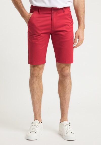 DreiMaster Maritim Pantalon chino en rouge clair, Vue avec modèle