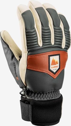 LEKI Sporthandschuhe 'Patrol 3D' in beige / grün / rot / schwarz, Produktansicht