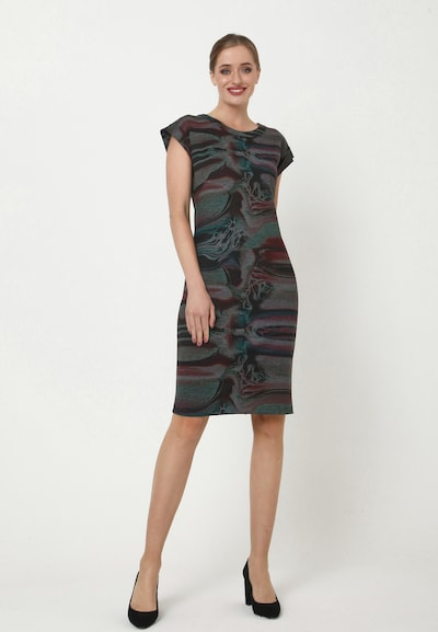 Madam-T Kleid 'FROMA' in grau, Modelansicht