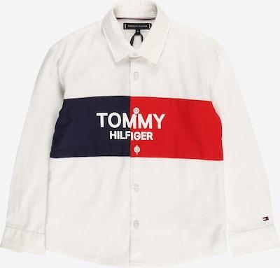 TOMMY HILFIGER Overhemd in de kleur Navy / Lichtrood / Wit, Productweergave