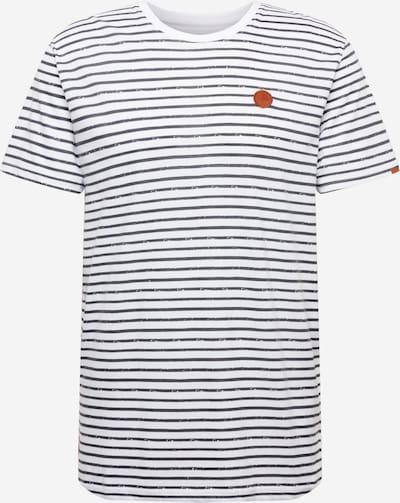 Alife and Kickin T-Shirt 'Nic' in nachtblau / braun / weiß, Produktansicht