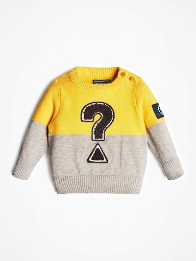 GUESS KIDS PULLOVER in gelb / grau / schwarz, Produktansicht
