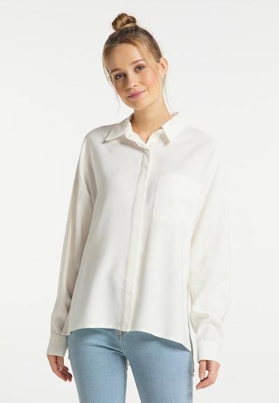 DreiMaster Vintage Bluse in weiß, Modelansicht
