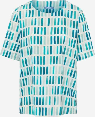 DAY.LIKE Kurzarmbluse Blusen-Shirt in blau / weiß, Produktansicht