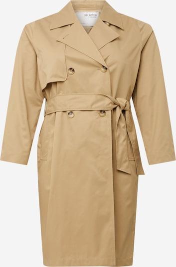 SELECTED FEMME Curve - doppelreihiger Jacke in braun, Produktansicht