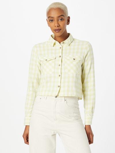 Pimkie Bluse in hellgrün / weiß, Modelansicht