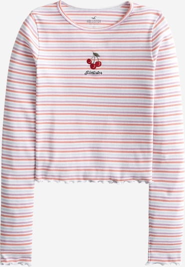 HOLLISTER Tričko - svetlozelená / ružová / rosé / červená / biela, Produkt