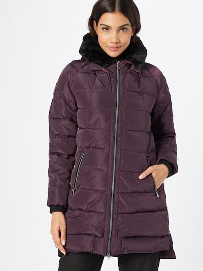 Cartoon Between-Seasons Coat in Dark purple / Black, View model