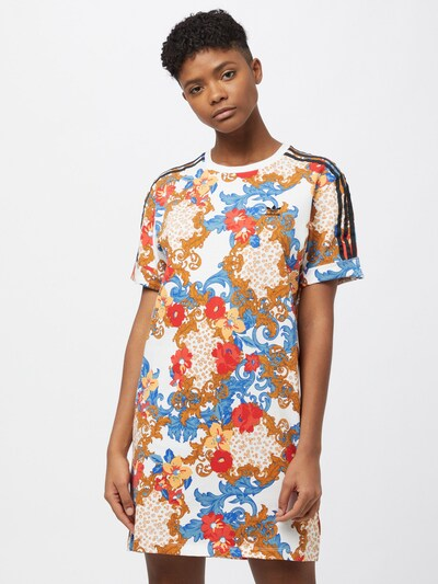 ADIDAS ORIGINALS Kleid 'HER Studio London' in rauchblau / cognac / rot / schwarz / weiß, Modelansicht