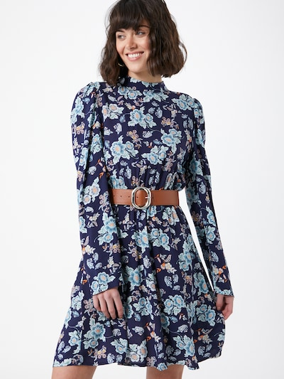 Trendyol Kleid in navy / himmelblau / mischfarben, Modelansicht