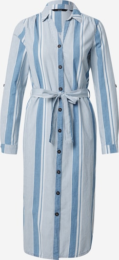 VERO MODA Blousejurk 'AKELA' in de kleur Blauw denim / Wit, Productweergave