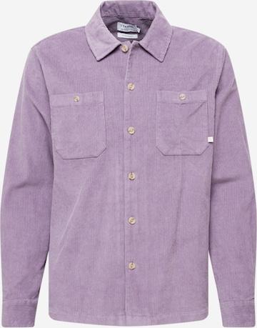 FARAH Button Up Shirt in Purple