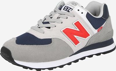 Sneaker bassa '574' new balance di colore blu scuro / pietra / rosso fuoco / bianco, Visualizzazione prodotti