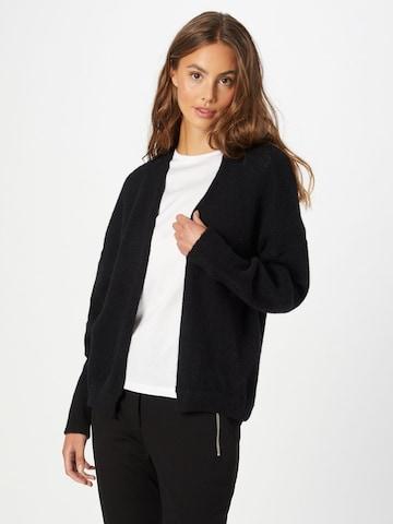 BOSS Casual Knit Cardigan 'Falesca' in Black
