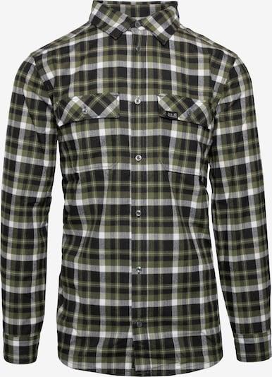 JACK WOLFSKIN Hemd 'Bow Valley' in khaki / schwarz / weiß, Produktansicht