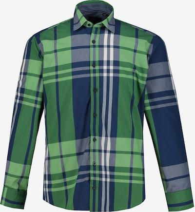 JP1880 Overhemd in de kleur Nachtblauw / Groen / Wit, Productweergave