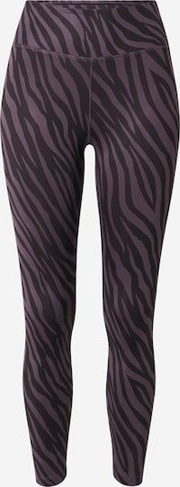 NIKE Pantalon de sport en aubergine / noir / blanc, Vue avec produit