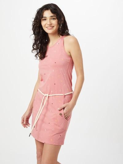 Ragwear Kleid 'KESY' in beige / hellgelb / altrosa / karminrot, Modelansicht