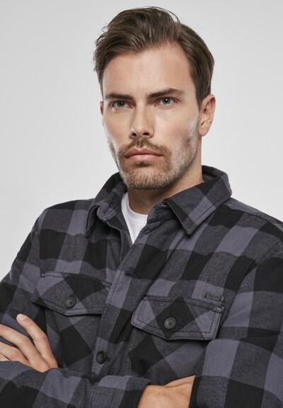 Brandit Jacke in grau / schwarz, Produktansicht