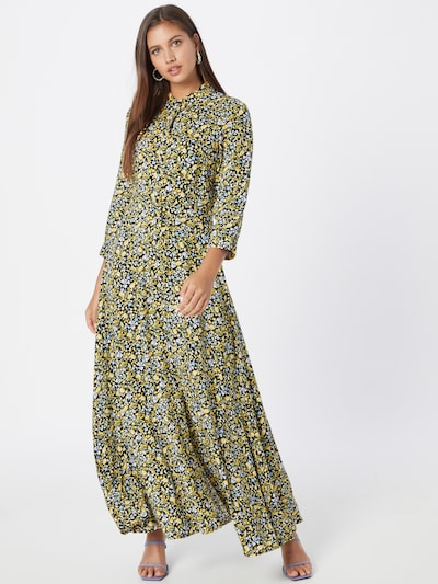 Rochie tip bluză 'SAVANNA' Y.A.S pe albastru deschis / galben / negru / alb, Vizualizare model