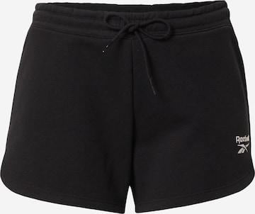 Reebok Sport Παντελόνι φόρμας σε μαύρο