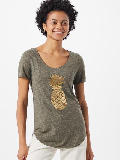 Marškinėliai 'LUA' iš VERO MODA , spalva - Auksas / tamsiai žalia: Vaizdas iš priekio