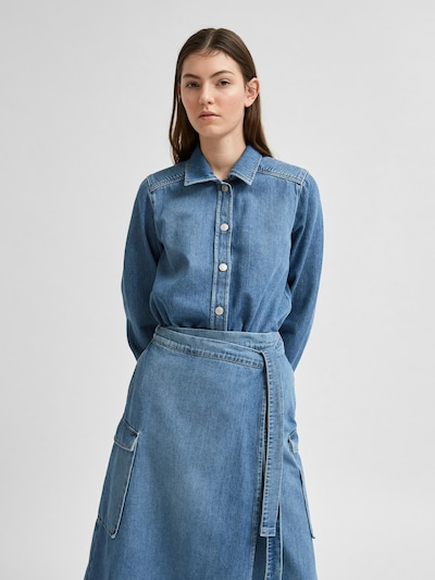 SELECTED FEMME Blouse 'Mille' in Blue denim, View model
