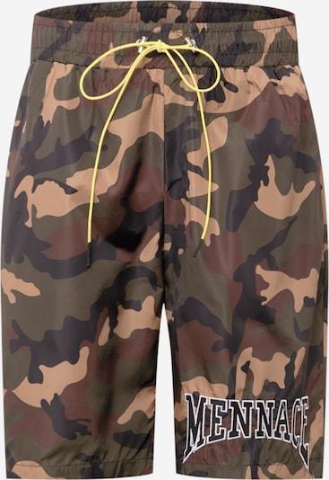 Pantaloni Mennace pe maro deschis / kaki / negru / alb, Vizualizare produs