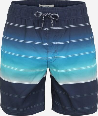 BLEND Plavecké šortky - tyrkysová / světlemodrá / tmavě modrá / světle šedá, Produkt