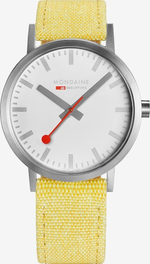 Mondaine Analog Watch in Yellow / Red / Silver / White, Item view