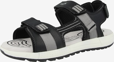 GEOX Chaussures ouvertes 'J S. Alben B. D' en gris / noir, Vue avec produit