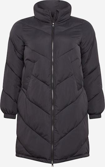 Zizzi Veste d'hiver 'MROSE, L/S, COAT' en noir, Vue avec produit