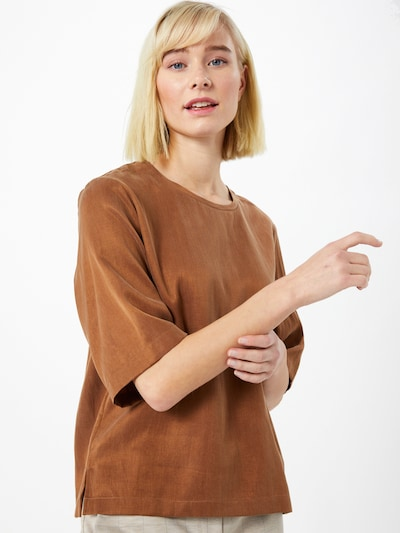 DRYKORN Bluse 'Diedra' in braun, Modelansicht