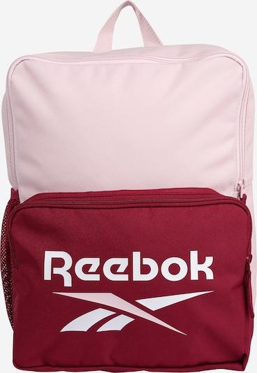 Reebok Sport Sportrucksack in rosa / merlot / weiß, Produktansicht