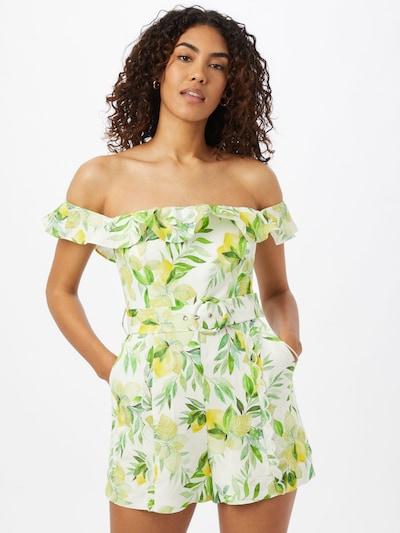 Salopeta 'Brodie Bardot' Forever New pe galben lămâie / verde iarbă / verde pastel / verde deschis / alb, Vizualizare model