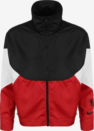 NIKE Sportsweatjacke 'Chicago Bulls' in rot / schwarz / weiß, Produktansicht