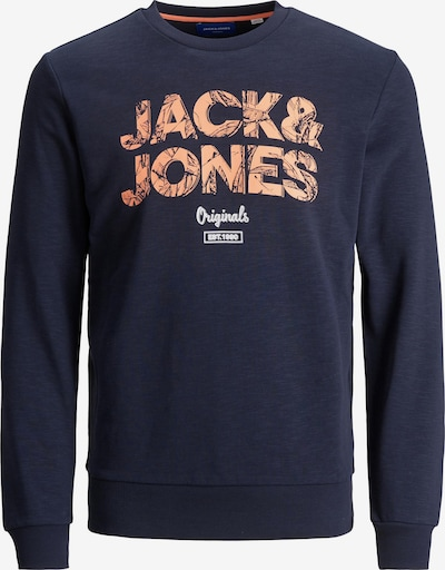 JACK & JONES Sweatshirt in navy / orange / weiß, Produktansicht
