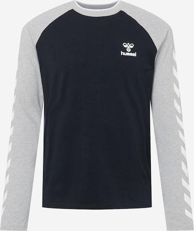Hummel Sportshirt 'Mark' in grau / schwarz / weiß, Produktansicht