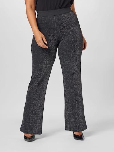 Kelnės 'Meghan' iš ONLY Carmakoma , spalva - juoda / Sidabras: Vaizdas iš priekio