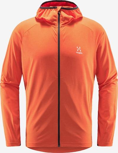 Haglöfs Funktionsfleecejacke 'Mirre Mid' in orange / weiß, Produktansicht
