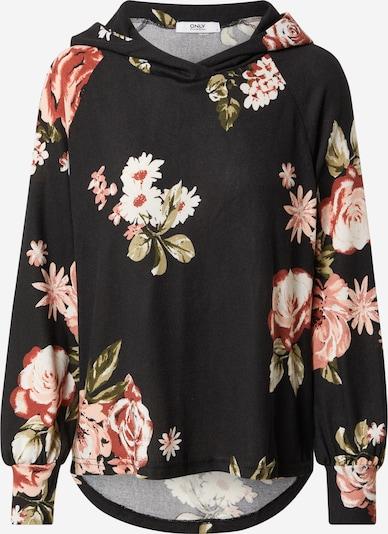 ONLY T-shirt 'ELCOS EMMA' en mélange de couleurs / rose / noir / blanc, Vue avec produit