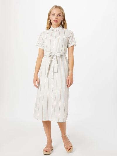 Trendyol Kleid in braun / hellgrau, Modelansicht