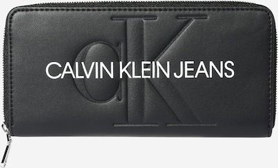 Calvin Klein Jeans Portemonnaie in schwarz / weiß, Produktansicht