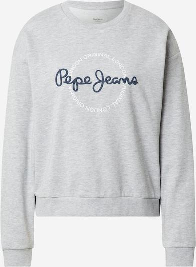 Pepe Jeans Collegepaita 'BLANCA' värissä laivastonsininen / meleerattu harmaa / valkoinen, Tuotenäkymä