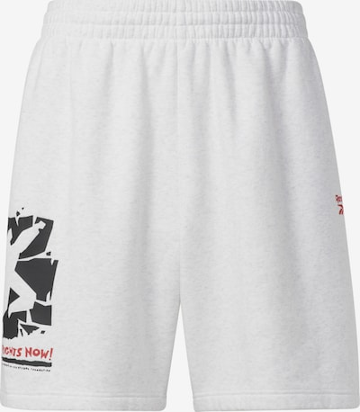 Reebok Sport Sporthose in grau / rot / schwarz, Produktansicht