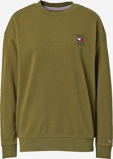 Tommy Jeans Sweat-shirt en bleu nuit / olive / rouge / blanc, Vue avec produit
